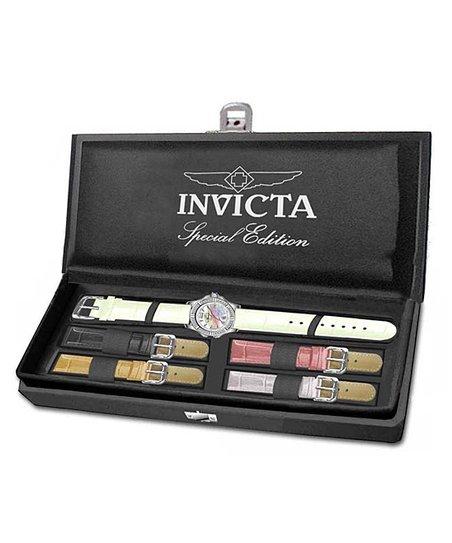 White & Silver Signature Quartz Watch Set - Women