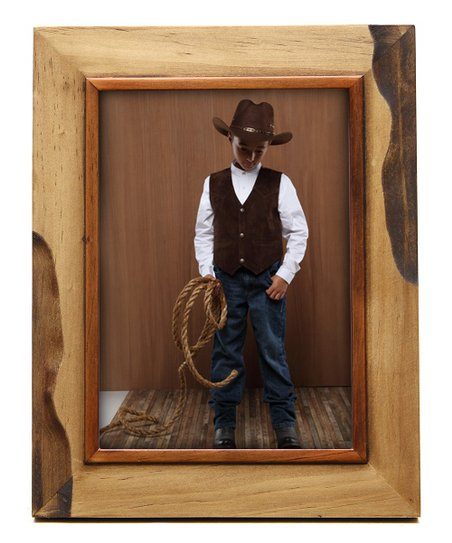 Natural Accented Wood Frame