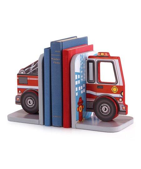 Fire Truck Bookend Set