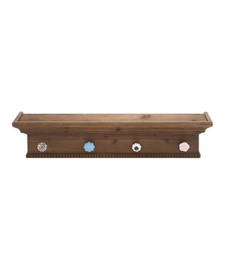 Wood Wall Shelf/Hook Board