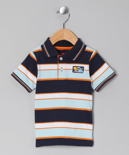 Navy Stripe Lion Polo - Infant & Toddler