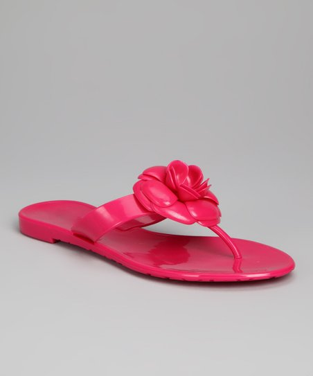 Fuchsia Mandy Jelly Sandal