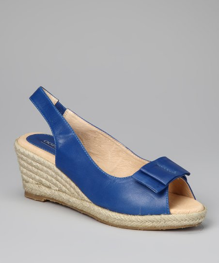 Blue Bow Tie Espadrille