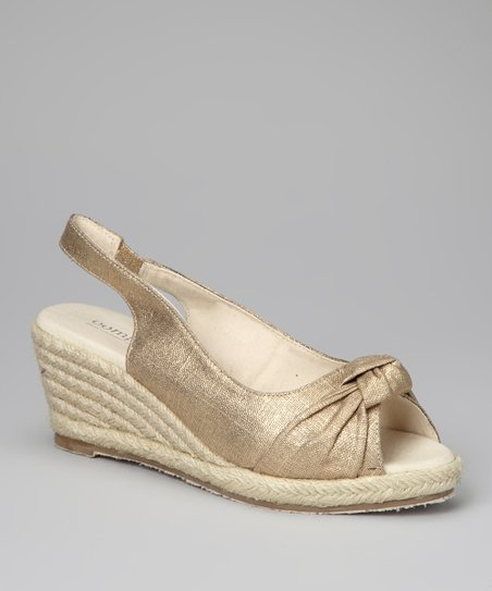 Gold Knot Espadrille