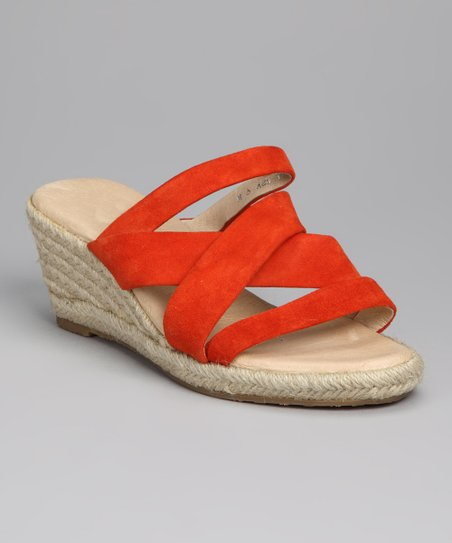 Orange Strappy Espadrille