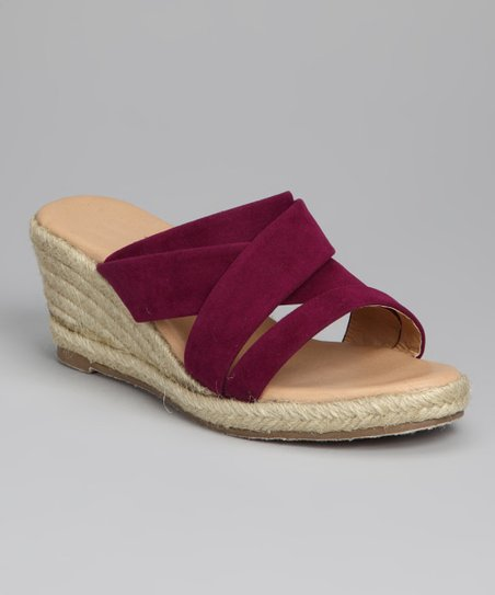 Purple Strappy Espadrille