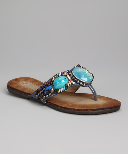 Blue Bead Chloe Sandal