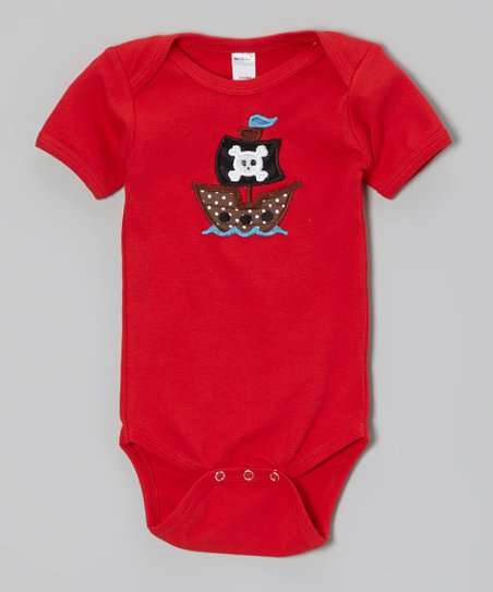 Red Pirate Ship Bodysuit - Infant