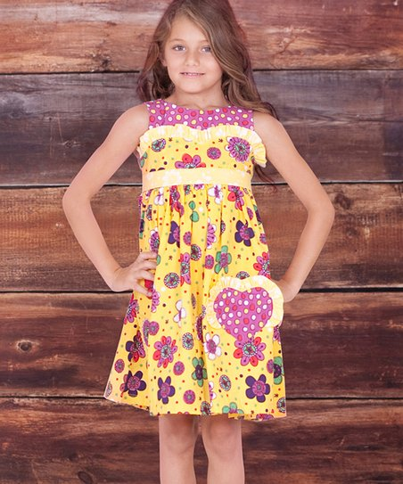 Yellow Verbena Betty Dress - Infant, Toddler & Girls