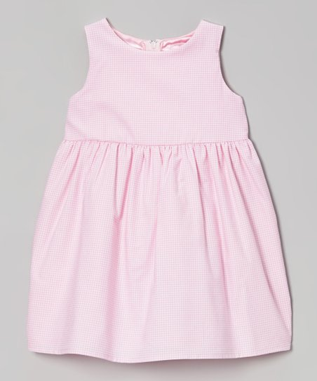 Baby Pink Gingham Eden Dress - Toddler & Girls