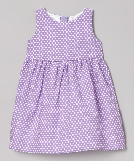 Purple Polka Dot Eden Dress - Toddler & Girls