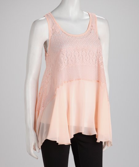 Blush Lace Handkerchief Swing Top