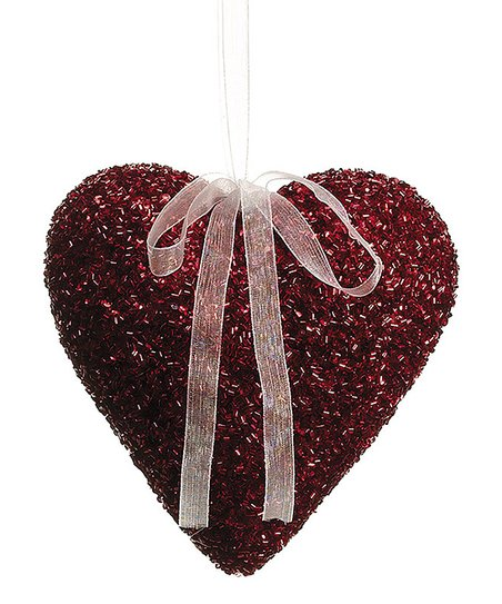 Red Solid Heart Ornament