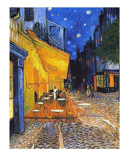 B'Café Terrace At Night Canvas Wall Art