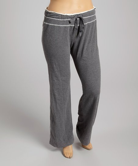 Gray Yoga Pants - Plus