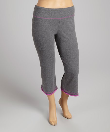 Gray & Hyacinth Capri Pants - Plus