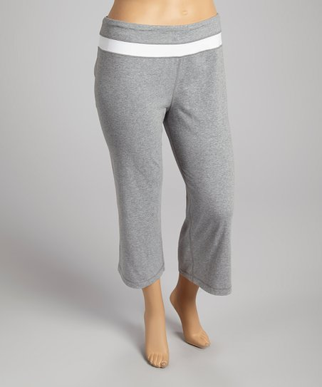 Gray Capri Pants - Plus
