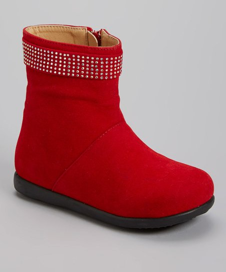 Red Kiki Rhinestone Boot