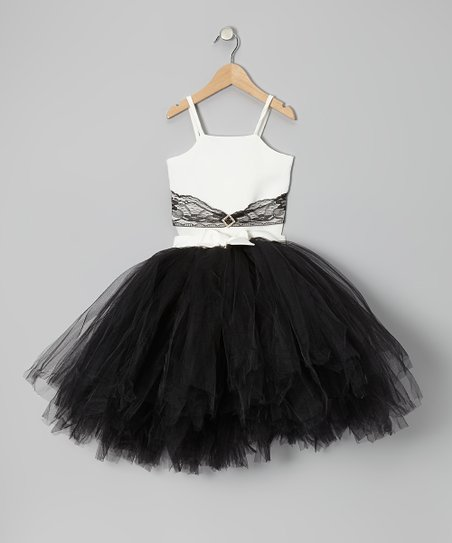 White Top & Black Tutu - Infant, Toddler & Girls