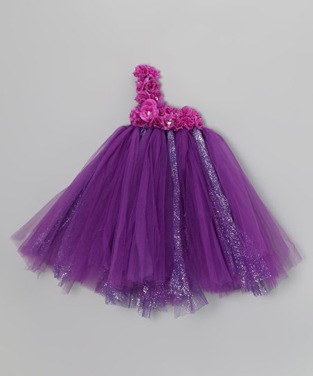 Purple Blossom Tutu Dress - Infant, Toddler & Girls