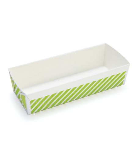 Green Stripe Rectangular Loaf Pan Set of 20