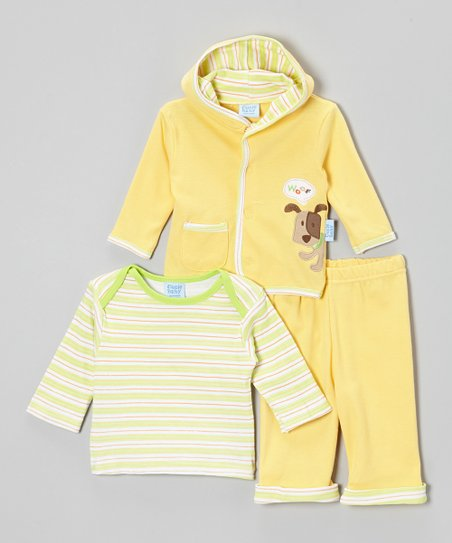 Yellow Puppy Jacket Set - Infant