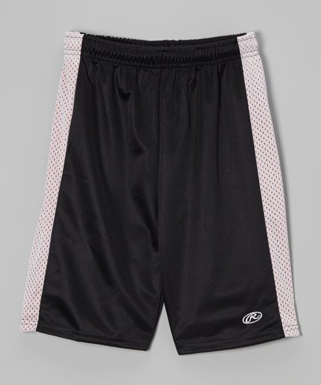 True Black & White Mesh Shorts