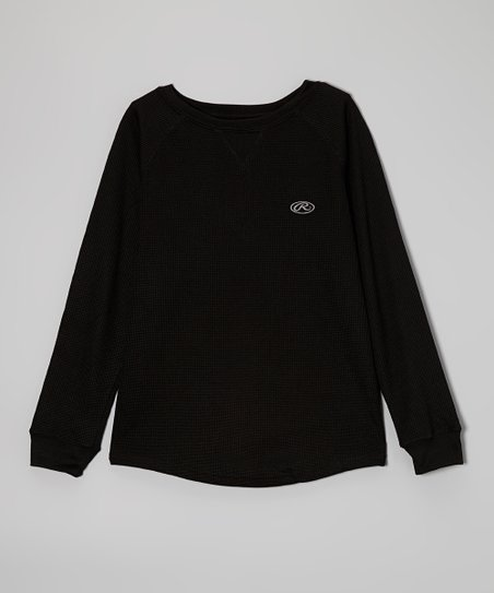 True Black Long-Sleeve Tee
