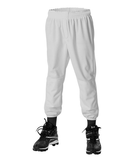 Gray Pull-Up Baseball Pants – Boys