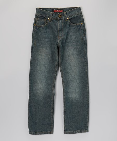 Dirty Tint Blast Straight-Leg Jeans - Boys