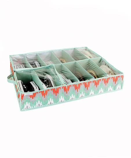 Coral & Gray Joni Under the Bed Shoe Organizer