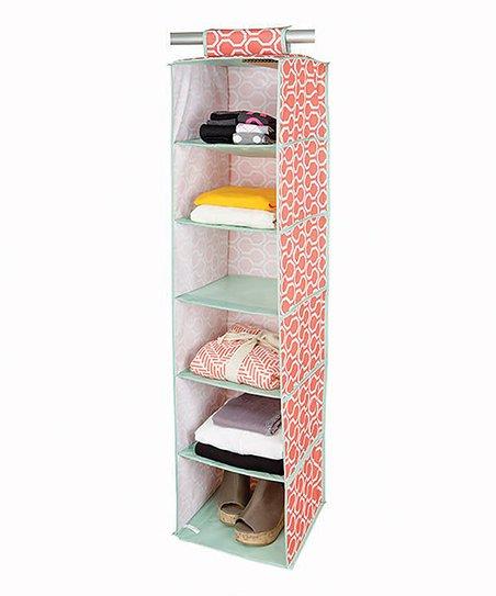 Coral Dinah 10-Shelf Hanging Organizer