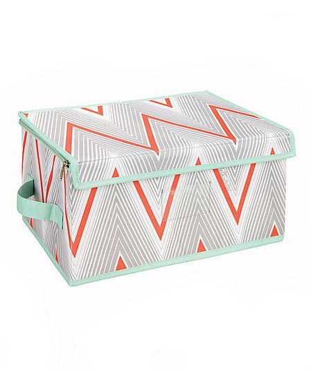 Coral Cici Medium Zippered Storage Box
