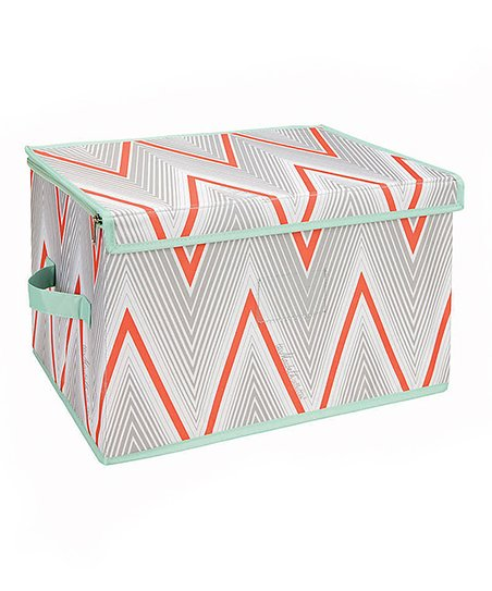 Coral Cici Zippered Storage Bag
