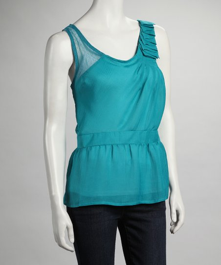Jade Ruffle Shoulder Top