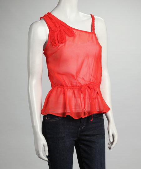 Orange Asymmetrical Top