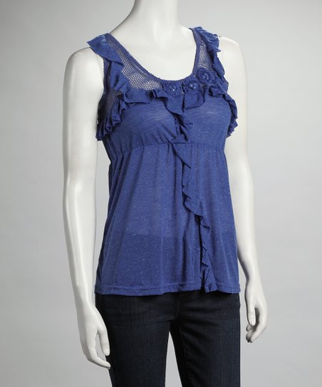 Royal Ruffle Mesh Tank
