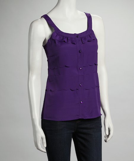 Purple Button Tank
