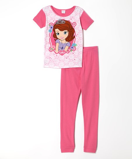 Pink Princess Sofia Pajama Set - Girls