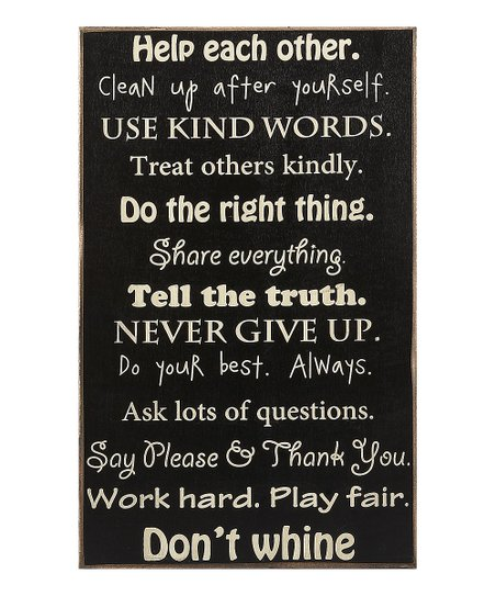 'Words to Live By' Sign