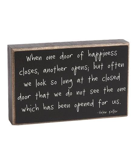 'One Door Closes' Box Sign