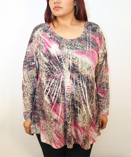 Pink Machete Sublimation Tunic - Plus