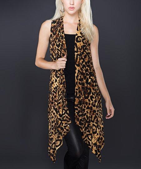 Brown & Black Leopard Vest