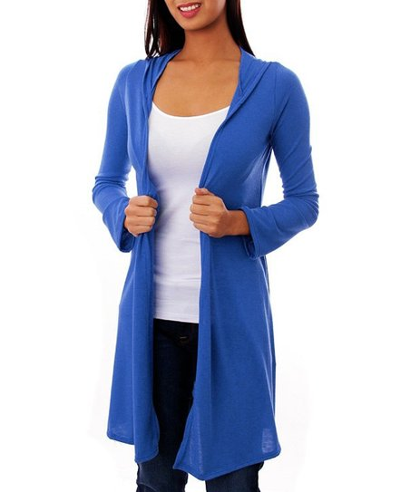 Royal Blue Open Hooded Duster
