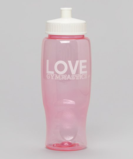 Light Pink 'Love' Water Bottle