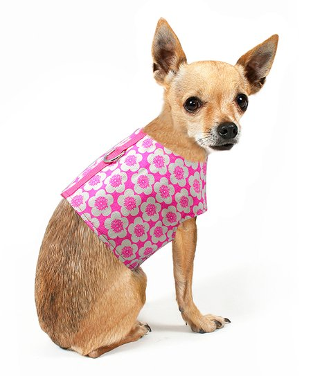 Pink Pop Floral Dog Harness