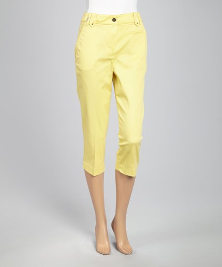 Lemon Light Crop Pants
