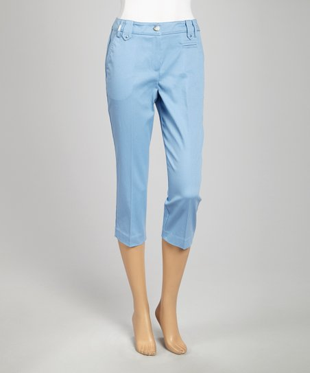 Powder Blue Crop Pants
