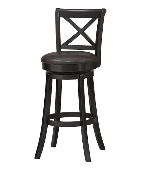 Black X-Back Swivel Stool
