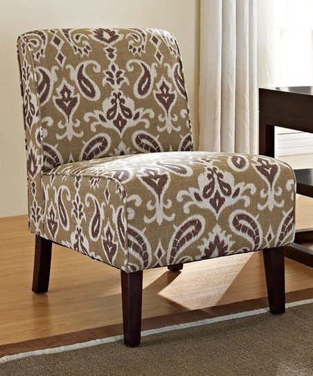 Dark Walnut & Beige Lily Kendal Chair
